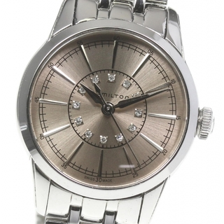 ハミルトン(Hamilton)のハミルトン レイルロード 12Pダイヤ H403110 レディース 【中古】(腕時計)