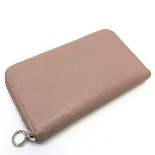 ブルガリ(BVLGARI)のブルガリ 36935 HAZEL ラウンド長財布 レザー ピンク(財布)