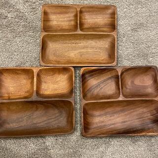 ニトリ - お皿 木製 プレート 3つ