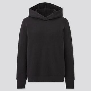 UNIQLO - ウルトラストレッチスウェットプルパーカ(長袖)黒 XL