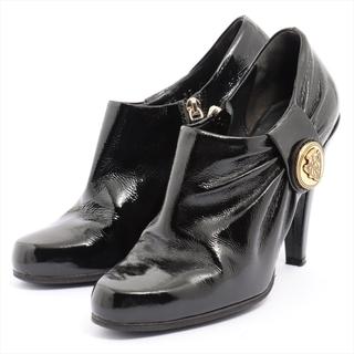 グッチ(Gucci)のグッチ  パテントレザー 37 ブラック レディース ブーツ(ブーツ)