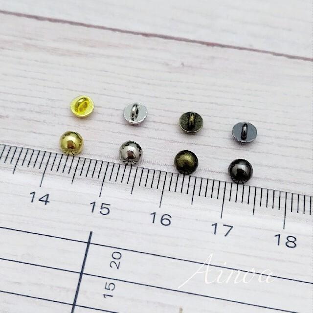 【AMB4】足付きミニ丸ボタン 4mm ドール用 アウトフィット 10個 ハンドメイドの素材/材料(各種パーツ)の商品写真