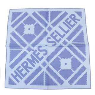 Hermes - HERMES プチカレ カレ45 シルクスカーフ ライトブルー A4276