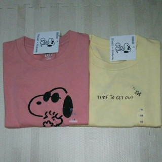 UNIQLO - スヌーピー  半袖Tシャツ  2枚組  ユニクロ  ピーナッツ×長馬雄