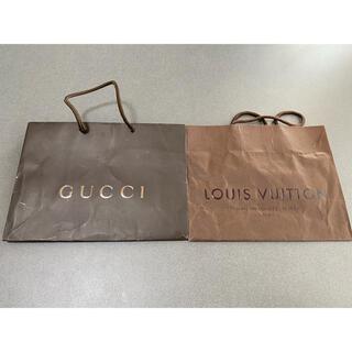 グッチ(Gucci)のGUCCI VUITTON 袋 ショップ袋 中古 2枚セット(ショップ袋)
