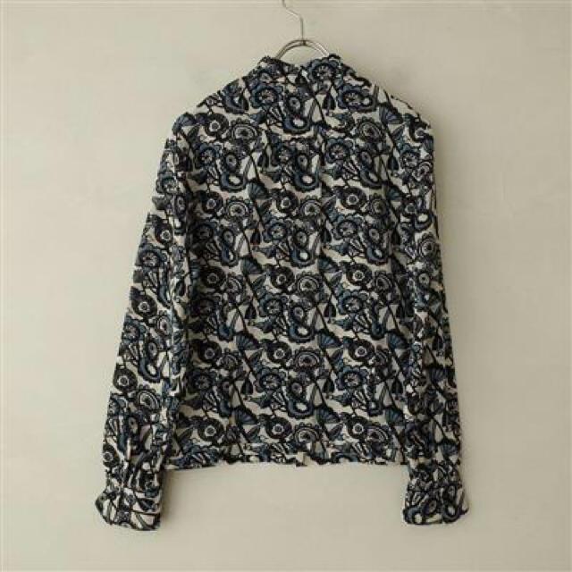 mina perhonen(ミナペルホネン)のミナペルホネン mina perhonen joy  総柄ブラウス シャツ 鳥  レディースのトップス(シャツ/ブラウス(長袖/七分))の商品写真