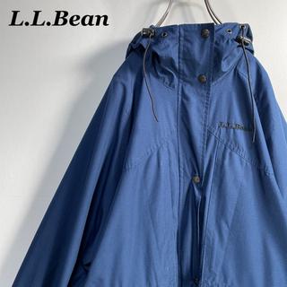 エルエルビーン(L.L.Bean)の【古着】70s 80s エルエルビーン 刺繍ロゴ マウンテンパーカー M(マウンテンパーカー)