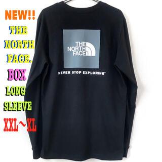 ザノースフェイス(THE NORTH FACE)のちょい訳有り ♪ XXL相当 新品 ノースフェイス BOX NSE ロンT 黒(Tシャツ/カットソー(七分/長袖))