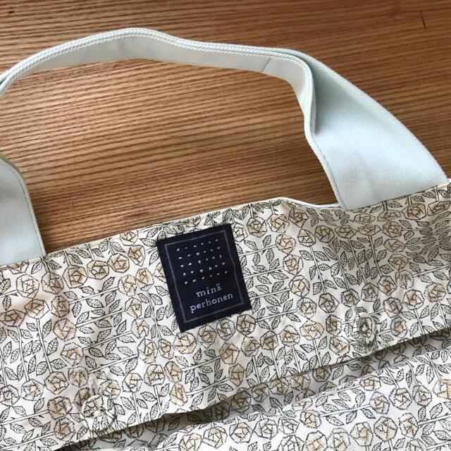mina perhonen(ミナペルホネン)のミナペルホネン パニーニバッグ  タンバリン柄 タグ付き 未使用 レディースのバッグ(トートバッグ)の商品写真