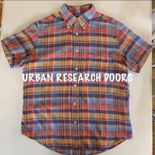 ドアーズ(DOORS / URBAN RESEARCH)のアーバン リサーチドアーズ 半袖シャツ メンズ チェックシャツ 38(シャツ)