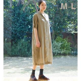 MUJI (無印良品) - 無印良品    フレンチリネン洗いざらし五分袖開襟ワンピース  婦人M~L2点
