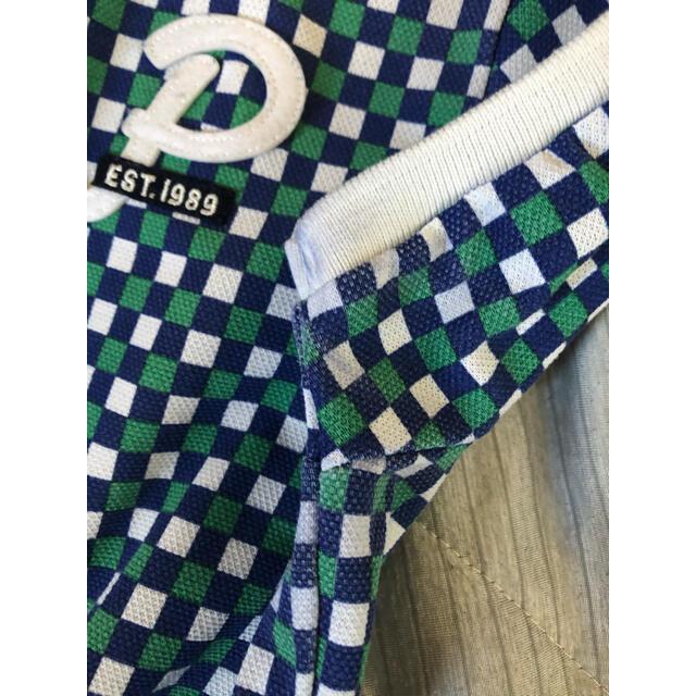 PEARLY GATES(パーリーゲイツ)のパーリーゲイツ pearly gatesポロシャツ レディースサイズ0 チェック スポーツ/アウトドアのゴルフ(ウエア)の商品写真