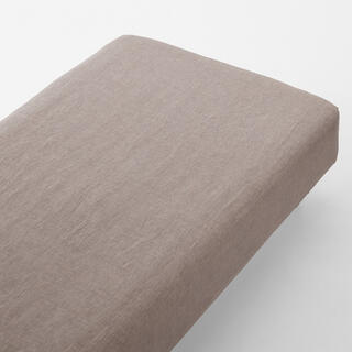 MUJI (無印良品) - 無印良品 麻平織ボックスシーツ セミダブル