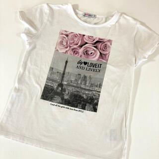 ナルミヤ インターナショナル(NARUMIYA INTERNATIONAL)のバイラビット 転写プリントTシャツ 140(Tシャツ/カットソー)