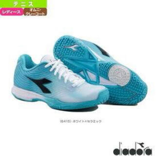 ディアドラ(DIADORA)のDIADORA テニスシューズ オムニクレー 24.0 美品(シューズ)