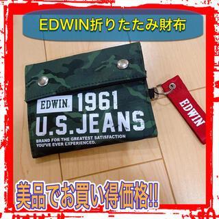 エドウィン(EDWIN)のEDWIN 折りたたみ財布 財布 コンパクト おしゃれ プレゼント(折り財布)