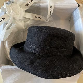 シャネル(CHANEL)のシャネル  新作 ハット CHANEL 帽子 完売 ブラック 新品 2021 黒(ハット)