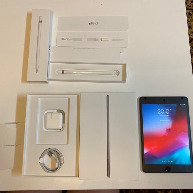 Apple(アップル)のiPad mini (第5世代)64GB+Apple Pencil (第1世代) スマホ/家電/カメラのPC/タブレット(タブレット)の商品写真