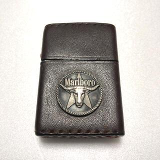 ジッポー(ZIPPO)のMarlboro zippo ジッポー バッファロー 革巻き マルボロ レザー(タバコグッズ)