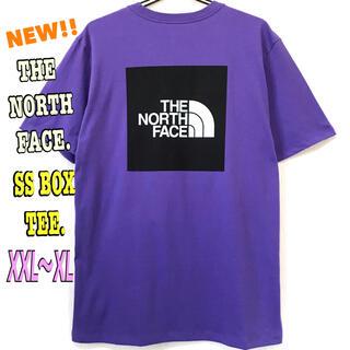 ザノースフェイス(THE NORTH FACE)の琉聖さん専用 新品 ノースフェイス BOX Tシャツ パープル 紫 XXL XL(Tシャツ/カットソー(半袖/袖なし))