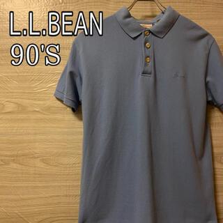 エルエルビーン(L.L.Bean)の★ 希少 ★ L.L.Bean ロゴ刺繍 90's 半袖 ポロシャツ 古着(ポロシャツ)