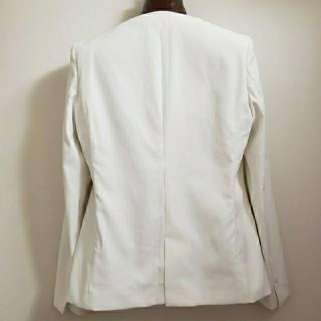 PLST(プラステ)のプラステ リネンブレンドカラーレスジャケット M レディースのジャケット/アウター(ノーカラージャケット)の商品写真