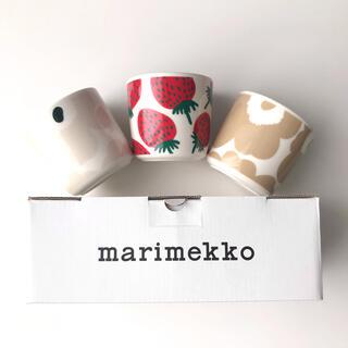 marimekko - 新品 マリメッコ マンシッカ ウニッコラテマグ セット クリームベージュ