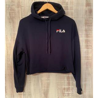 FILA - 【FILA】ショート丈フードパーカー