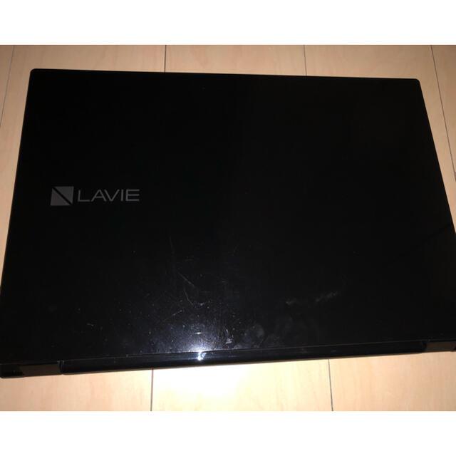 NEC(エヌイーシー)のLavie ns350g 黒 本体のみ スマホ/家電/カメラのPC/タブレット(ノートPC)の商品写真