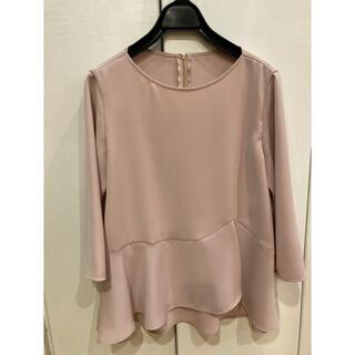 ANAYI - 極美品♡ANAYIペプラムブラウス・ピンク♡36サイズ