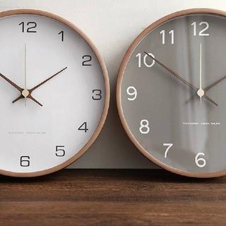 壁掛け時計 時計 北欧 LEMNOS BRUNO 無印 IKEA ナチュラル(掛時計/柱時計)