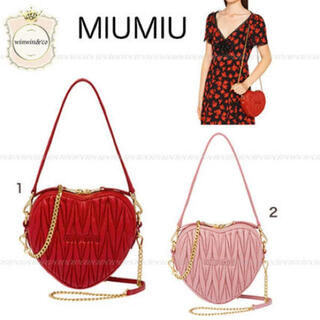 miumiu - 【香港限定】miumiu ハートチェーンバッグ