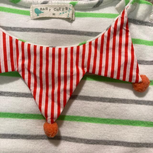 sense of wonder(センスオブワンダー)のベイビーチアー ボーダーシャツ 90 キッズ/ベビー/マタニティのキッズ服男の子用(90cm~)(Tシャツ/カットソー)の商品写真