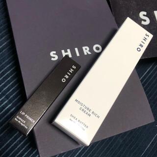シロ(shiro)のSHIROリッププライマー、シアバタークリーム(口紅)