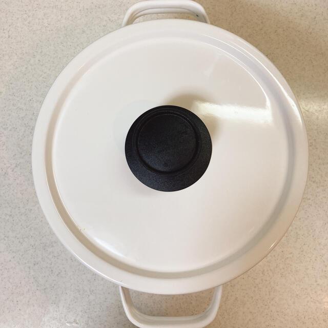富士ホーロー(フジホーロー)の富士ホーロー 両手鍋  深型 22cm ホーロー 鍋 パスタ鍋 カレー鍋 寸胴鍋 インテリア/住まい/日用品のキッチン/食器(鍋/フライパン)の商品写真