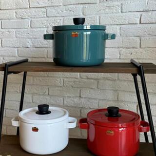 富士ホーロー 両手鍋  深型 22cm ホーロー 鍋 パスタ鍋 カレー鍋 寸胴鍋
