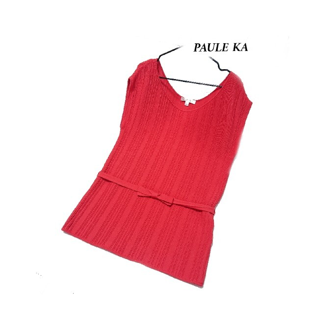 PAULE KA(ポールカ)のPAULE KA リボン付き ニット トップス レディースのトップス(ニット/セーター)の商品写真