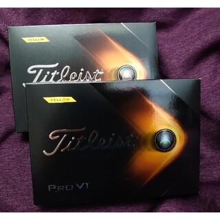 タイトリスト(Titleist)のtitleist PRO  V1 YELLOW ゴルフボール 2ダースセット(その他)