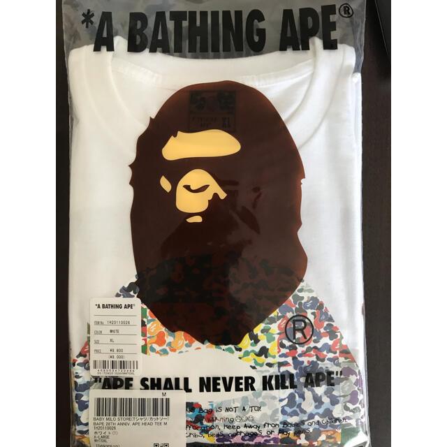 A BATHING APE(アベイシングエイプ)のBape 28周年 Tシャツ XL 白 メンズのトップス(Tシャツ/カットソー(半袖/袖なし))の商品写真