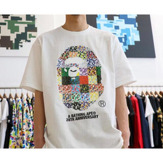 A BATHING APE - Bape 28周年 Tシャツ XL 白