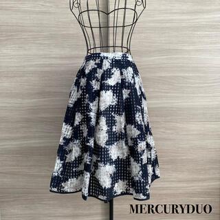 MERCURYDUO - MERCURYDUO  マーキュリーデュオ ギンガム柄 花柄 フレアスカート