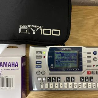 ヤマハ(ヤマハ)のYAMAHA QY100本体、ソフトケース、未使用ACアダプター付(音源モジュール)