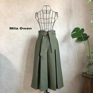 Mila Owen - 【美品】Mila Owen ミラオーウェン ガウチョパンツ