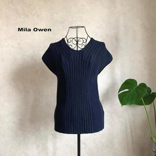 Mila Owen - 【美品】ミラオーウェン オーガニック浅Vボートネックプルオーバー