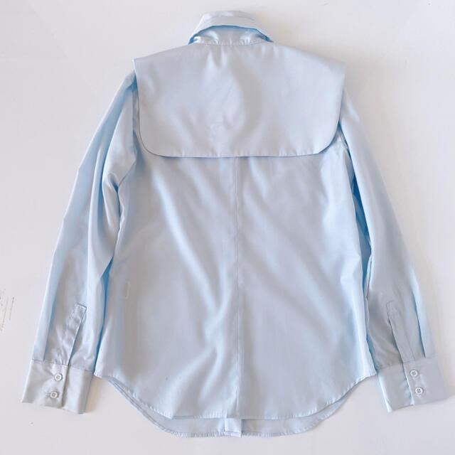Ameri VINTAGE(アメリヴィンテージ)のAMERI アメリ 変形ブラウス ブルー レディースのトップス(シャツ/ブラウス(長袖/七分))の商品写真