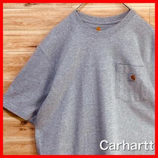 carhartt - 【春夏】Carharttカーハートtシャツ半袖グレーMポケットアメリカ古着