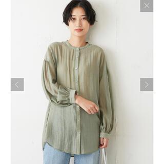ディスコート(Discoat)のDiscoat(ディスコート) シアーバックレイヤードビッグシャツ(シャツ/ブラウス(長袖/七分))