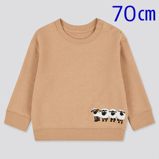 ユニクロ(UNIQLO)の【新品未使用】ユニクロ ベビー  ひつじのショーン スウェットシャツ 70(トレーナー)