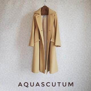 AQUA SCUTUM - 超高級 アクアスキュータム 本場英国製めちゃ可愛オーバーサイズコート ベージュ系