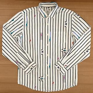 Design Tshirts Store graniph - Design Tshirts Store graniph ストライプシャツ M